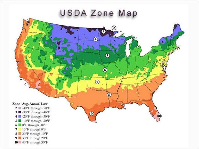 climate zone map of usa
