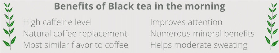 benefits of drinking black tea in the morning