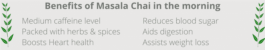 benefits of drinking masala chai in the morning