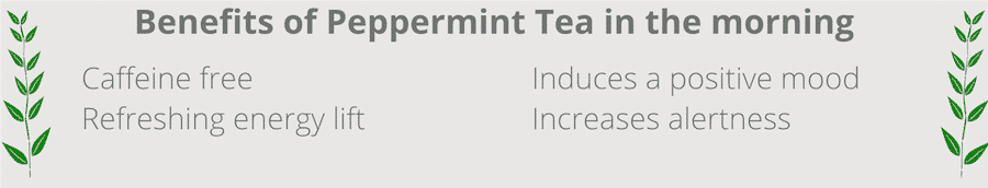 benefits of drinking peppermint tea in the morning