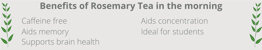 benefits of drinking roseamary tea in the morning