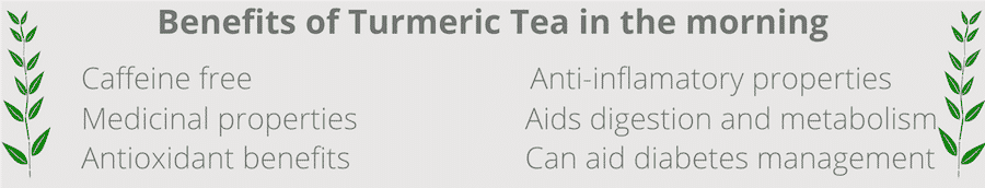 benefits of drinking turmeric tea in the morning
