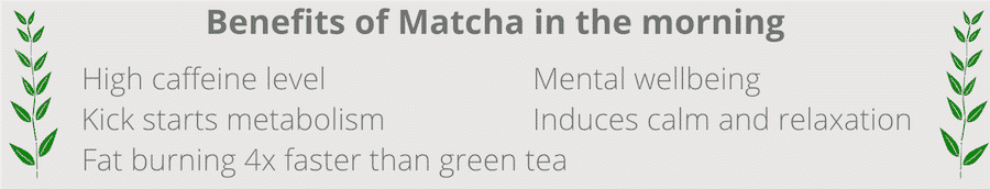 benefits of matcha in the morning