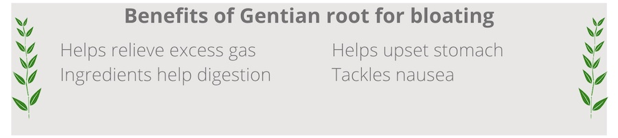 list of benefits of gentian root for bloating