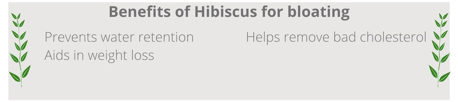 list of benefits of hibiscus for bloating