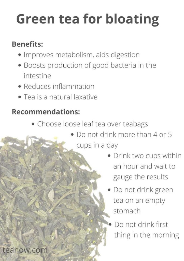 green tea for bloating - pin