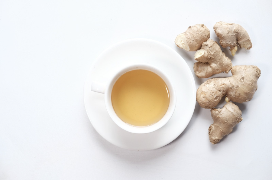 ginger tea before a workout